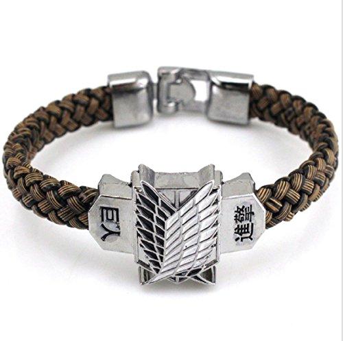 Oliasports Titan Leather Stainless Bracelet