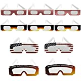 Double Couple Solar Eclipse Glasses Safety Goggles,CE and ISO Approved Solar Eclipse Viewing Filter Shades 2017 Eye Protection (10 Pack)