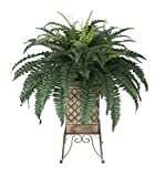 Artificial Fern in Small Planter Stand (Tan)