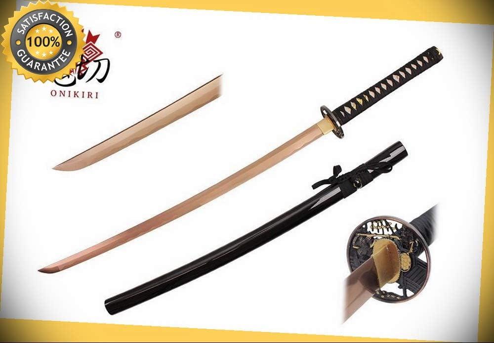 "Sparkfoam Sword 39/"" Foam Samurai Sword Gold//Black Handle w// wood scabbard NIB"