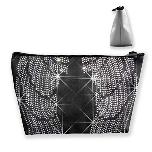 (Maple Memories Diamonds Angel Wings Travel Cosmetic Bag Cute Makeup Bag for)
