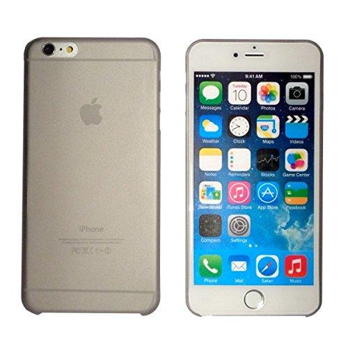 smartec24® iPhone 6 PLUS TPU SmartCover Case in grau mit Softgrip Oberfläche inkl. 1x Displayschutzfolie. 100% passgenauer kantenumgreifender Schutz