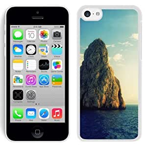 NEW Unique Custom Designed iPhone 5C Phone Case With Huge Rock Island_White Phone Case