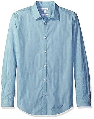 Calvin Klein Men's Stripe Long-Sleeve Button Down Shirt