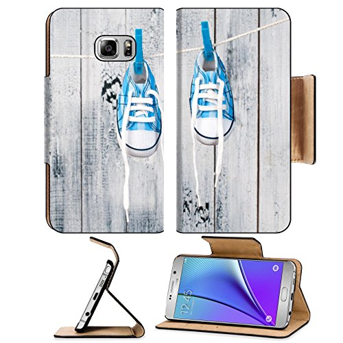 liili-premium-samsung-galaxy-note-5-flip-pu-leather-wallet-case-baby-shoes-hanging-on-the-clotheslin