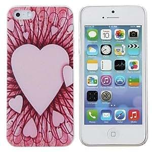 HC-Modelo rosado de la pintura del corazón caja de la PC dura para el iPhone 5/5S