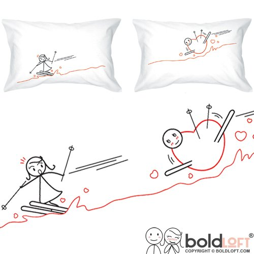 Amazon.com: BOLDLOFT Fallen for You His and Hers Couple Pillowcases ...