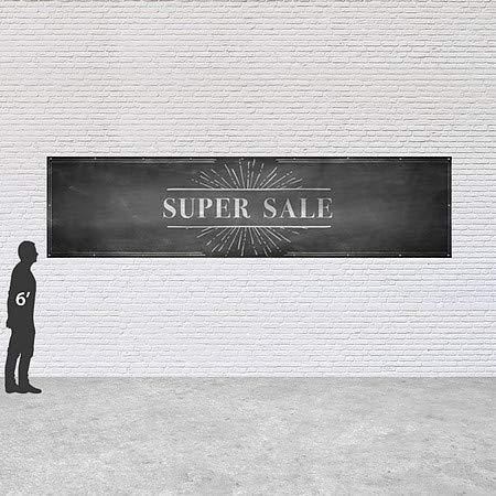 Chalk Burst Heavy-Duty Outdoor Vinyl Banner 16x4 Super Sale CGSignLab