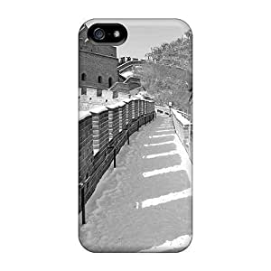 New Arrival Great Wall In Black White YaNPWKv3040mqHOE Case Cover/ 5/5s Iphone Case