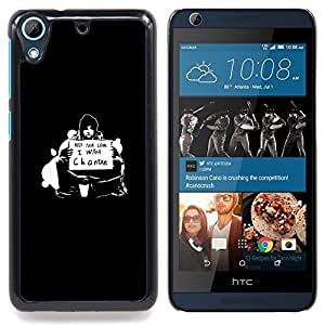 "Qstar Arte & diseño plástico duro Fundas Cover Cubre Hard Case Cover para HTC Desire 626 (¿Quieres Cambio"")"