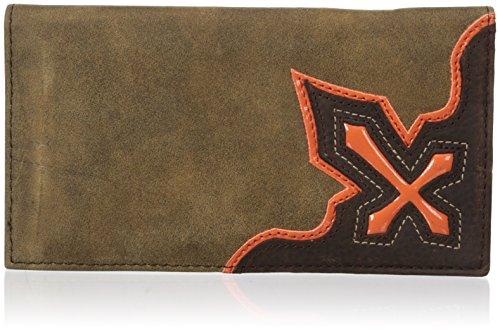 Orange Cross (Nocona Men's Orange Cross Inlay Rodeo, Brown, One)