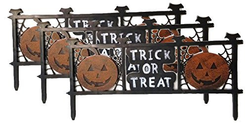 Trick R Treat Halloween Pumpkin Yard Fence Decorations Quantity 3 PackageQuantity: 3, Model: , Home & Outdoor Store