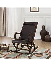 Acme Furniture 59535 Triton Rocking Chair, Espresso PU and Walnut