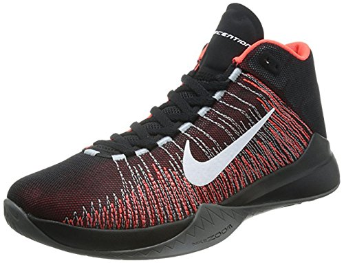 NIKE Zoom Ascention Herren Basketballschuhe Schwarz / Weiß / Bright Crimson / Schwarz)