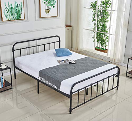 Alooter Queen Bed Frame, Platform Metal Bed Frame Foundation Queen Size with Headboard and Footboard DS-10 Queen