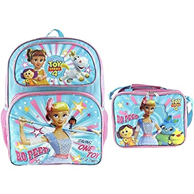 """Toy Story 4 Bo Peep 16"""" Backpack and Matching Insulated Lunch Bag 