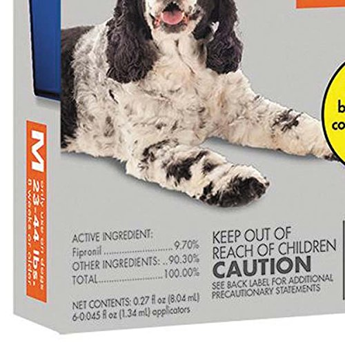 Petrodex ZX1180 23 Pet Armor Flea and Tick Squeeze On Dog, 23-44 lb