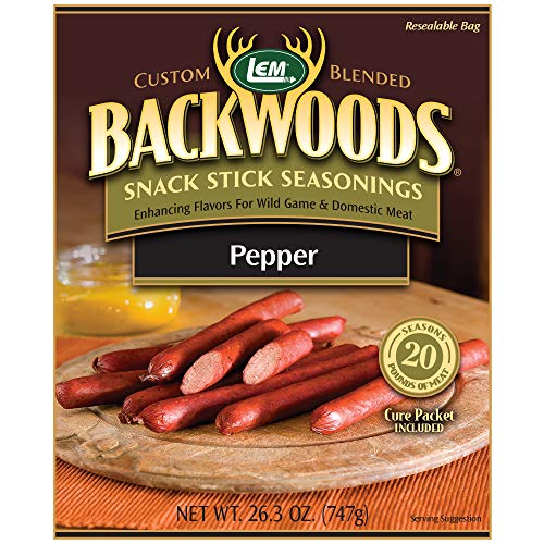 (LEM Backwoods Pepper Stick Seasoning with Cure Packet)