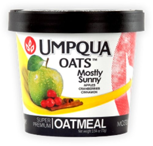 Umpqua Oats All Natural Oatmeal, Mostly Sunny, 2.6 Ounce (Pack of 12)