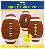 football decoration for party - Amscan Football Frenzy Birthday Party Hanging Lanterns Decoration (3 Piece), Multi Color, 12 x 11