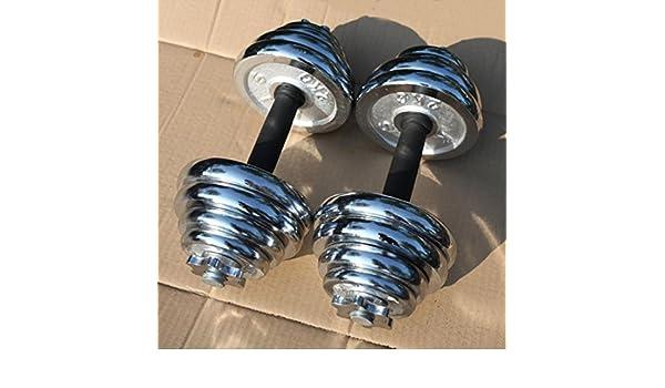 rhegeneshop ajustable fundido hierro gimnasio fuerza peso - Juego de pesas Par total 22 - 110 libras: Amazon.es: Deportes y aire libre