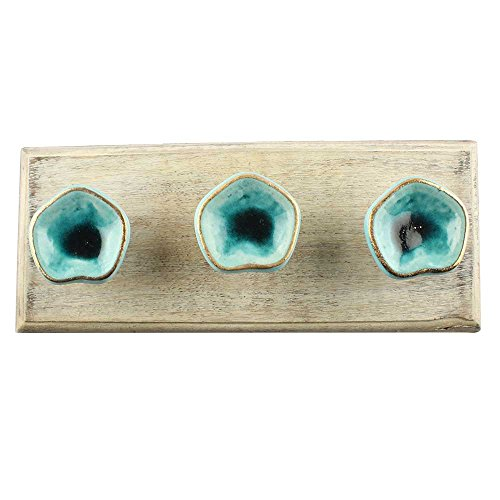 Wooden Green Coat Hooks/Holder/Hanger 4 Piece (WHK-1958-SCFK-89) (1958 4 Piece)