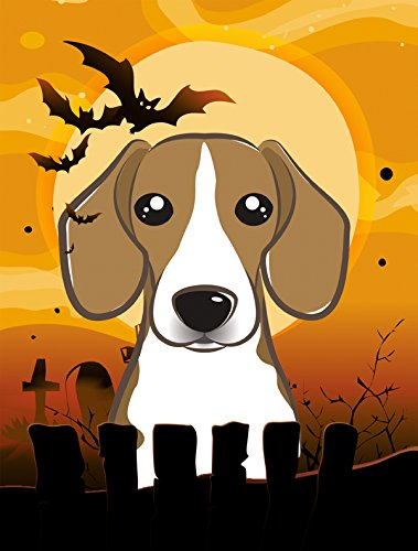 Beagle Flag (Caroline's Treasures BB1797GF Halloween Beagle Garden Size Flag, Small, Multicolor)
