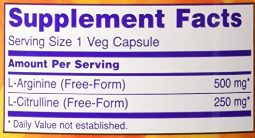NOW Foods Arginine & Citrulline 500/250