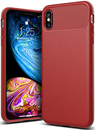 (Caseology Vault for iPhone Xs Max Case (2018) - Rugged Matte Finish - Red)