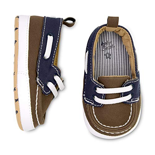 OshKosh B'Gosh Boys Low Top Brown Boat Shoe Crib, 3-6 Months ()