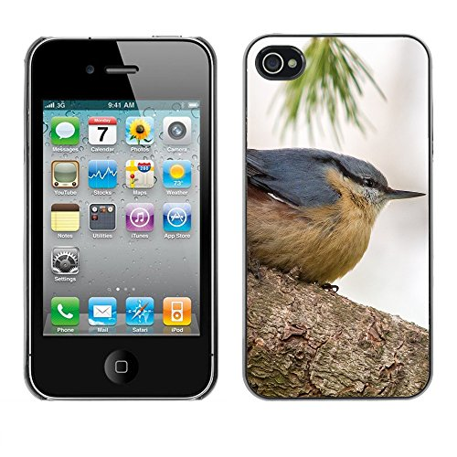 Premio Sottile Slim Cassa Custodia Case Cover Shell // F00013556 oiseau // Apple iPhone 4 4S 4G