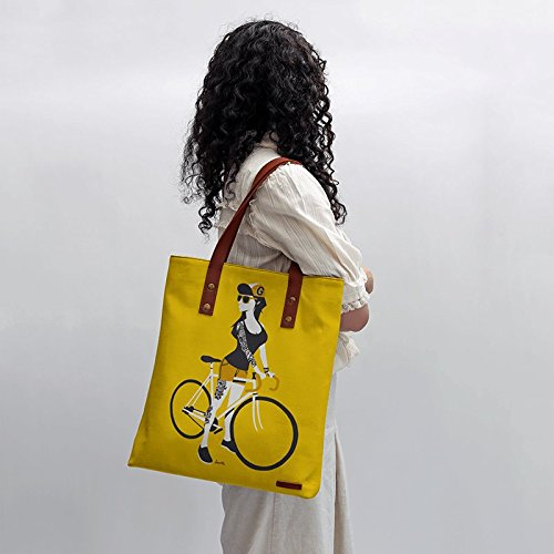 Bike Girl Tote Bag