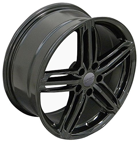 OE Wheels 18 Inch Fits Volkswagen CC Beetle Audi A3 A8 A4 A5 A6 TT RS6 Style AU12 18x8 Rims Gloss Black SET