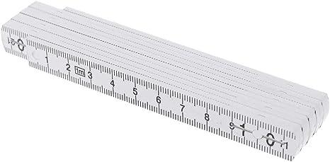 1M2M 10-parts Folding Carpenters Ruler Lightweight Compact Measuring Stick Slide