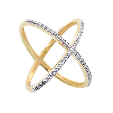 20562f12c065f Buy SKN Gold & Silver Gold Plated Solitaire Party American Diamond ...