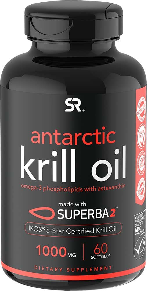 Antarctic Krill Oil 1000mg Double with Translated Strength EPA Omega-3s Today's only