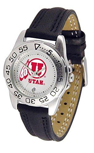 University of Utah Utes Women's Leather Band Athletic Watch