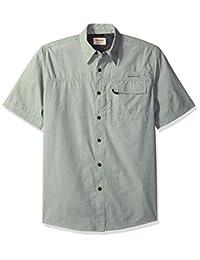 Wrangler Mens Big & Tall Short Sleeve Utility Shirt Button-Down Shirt