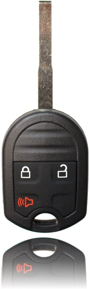 1 Beefunny 3 Button Remote Car Key Fob 433MHz 4D60 Chip for Ford Fiesta 2011-2013 Uncut HU101 Blade