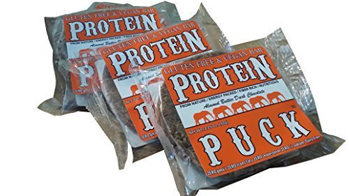 Protein Puck Bar, Dark Chococolate Almond, Gluten Free, Vegan, Non Gmo, Fiber Rich, Non-dairy, 16ct Case