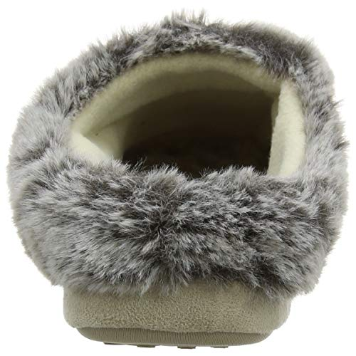 natural Slippers Donna Totes Mule Suedette Nat Fur Avorio Pantofole Ladies 8RI7Rqw