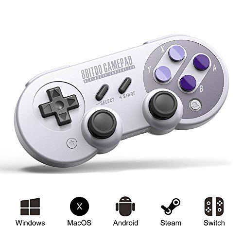 (PinPle 8Bitdo Wireless Controller Bluetooth 40 Retro Gamepad for Windows  Android  MacOS  Steam  Switch SN30 Pro)