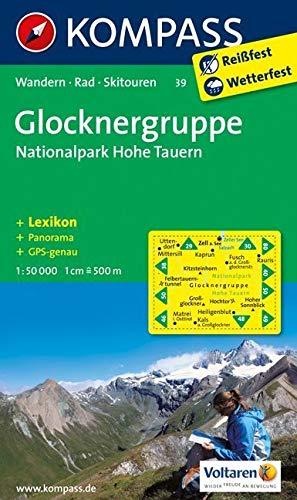 Glocknergruppe - Nationalpark Hohe Tauern: Wanderkarte mit KOMPASS-Lexikon, Panorama, Radwegen und alpinen Skirouten. GPS-genau. 1:50000 (KOMPASS-Wanderkarten, Band 39)