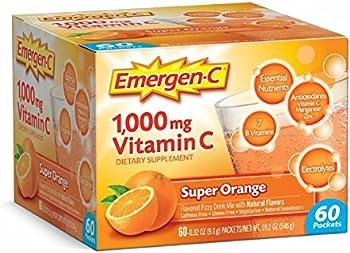 60-Count Emergen-C Vitamin C Super Orange Supplement Drink Mix