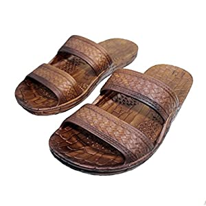Hawaii Brown and Black Jesus Sandals (Small Kid/Big Kid)