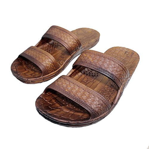 Hawaii Brown and Black Jesus Sandals for Kids.(These Kid Sandals Run 2 Sizes Smaller Than US Kid Sizes) (Kid 3, -
