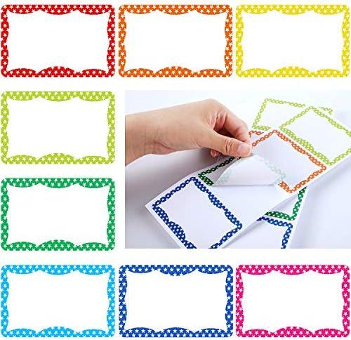 240 Stücke Namen Aufkleber Namen Sticker Namensschild Aufkleber Bunte Klebe Etiketten Abzeichen Aufkleber für Schule Büro Bedarf, 8 Farben