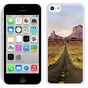 New Beautiful Custom Designed Cover Case For iPhone 5C With Straight Road (2) Phone Case