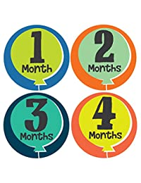 Little Fete Monthly Stickers - Gender Neutral - Months 1-12 BOBEBE Online Baby Store From New York to Miami and Los Angeles