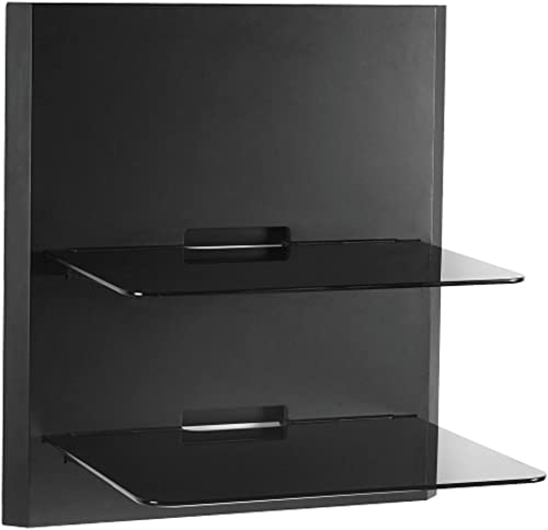 OmniMount – Obwf2 – Double Glass Wall Shelf- Slim Design Perfect for LED Tvs